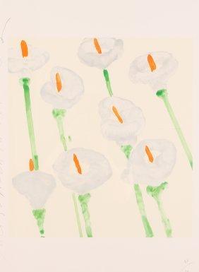Donald Sultan Lilies 1998 Serigraph