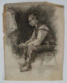John Joseph Owens Man With Pencil