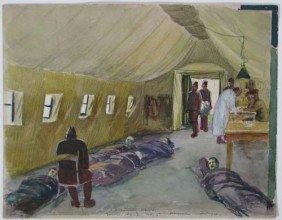 John Joseph Owens WWI Hospital Watercolor