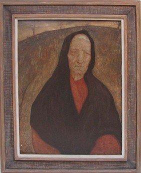 """Samuel Rosenberg 1925 Oil Painting """"Marta"""""""