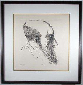 Leonard Baskin Monticelli Etching