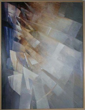 Rochelle Blumenfeld 1988 Untitled Blue Abstract
