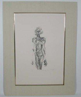 Alberto Giacometti  Standing Nude From Derriere Le