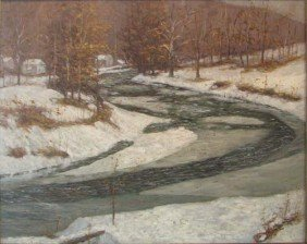 William G. Mayer Mountain Stream, Winter