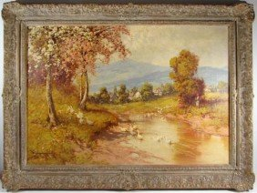 Laszlo Neogrady Oil Painting Peasant Country Girls