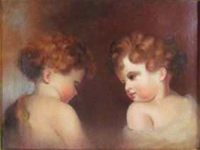 Mary J. Peale Cherubs Painting