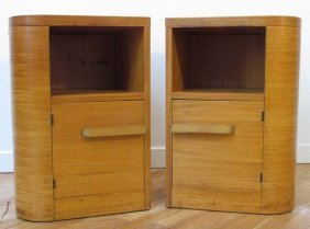 Matching Pair Of Donald Deskey Night Stands 1930's