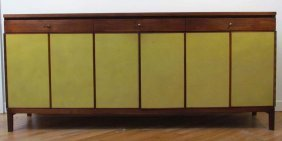Paul McCobb For Calvin Leather Fronted Credenza