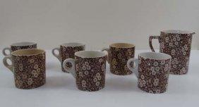 6 Orownford  Ceramic Mugs & Matching 3-Pint Pitche