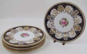 7 Antique Wedgewood Hand Painted Bone China Plates