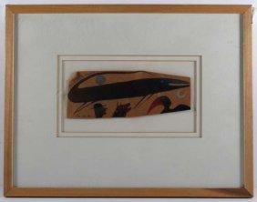 """David Lewis Drawing """"Lizard Leap"""" 1985"""