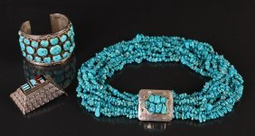 Assorted Sterling And Turquoise Jewelry