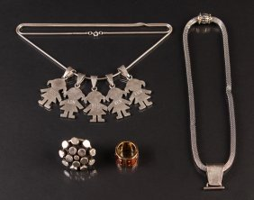 4 Pcs Assorted Sterling Jewelry