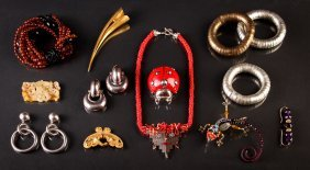 Assorted Costume Jewelry W/marchetti Ladybug Pape