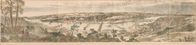 """city Of Pittsburgh"" 1888 Lithograph By Armor"
