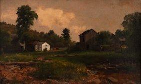 George Hetzel Landscape With Farm Buildings