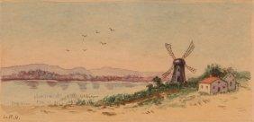 Lila Hetzel Windmill Watercolor