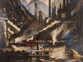 "Thornton Oakley ""generating Power On The Allegheny"""