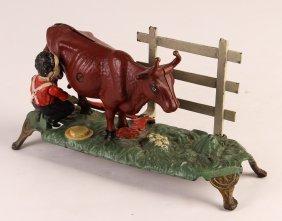 Milking Cow Mechanical Bank - J&e Stevens