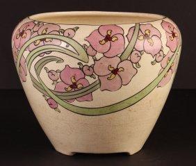 Ceramic Roseville Persian Poppy Jardinière