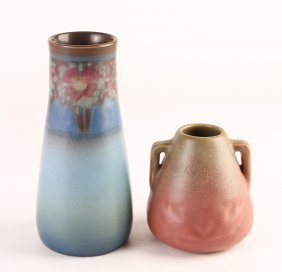 Two Early Rookwood Gradual Color Tone Ceramic Vases