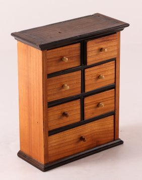 Small Biedermeier Dovetailed Cabinet