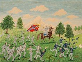 "Albert Webster Davies Painting ""stonewall Jackson"