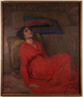 "Matilde Piacentini Festa Painting ""reclining Woman"""