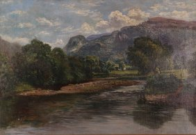 Signed Reid 1902 Welsh Landscape Betws Y Coed