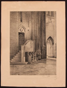 Andrey Avinoff Litho Commons Room, Cathedral Of