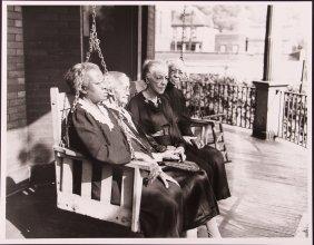 Teenie Harris Photo Of Elderly Women On A Porch Swing
