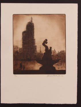 Cathedral Of Learning Construction Joseph Stastny 1929