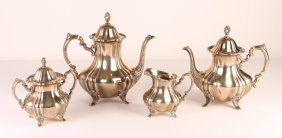 Sterling Silver Four Piece Matching Tea Service