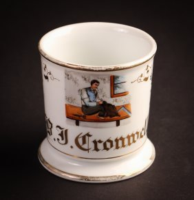 "Occupational Shaving Mug, ""b. J. Cronwell"" (tailor)"