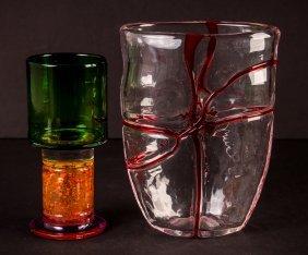 Kaj Franck Goblet With Contemporary Glass Vase