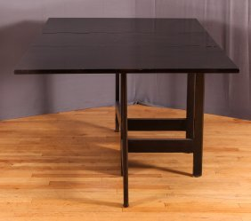 George Nelson For Herman Miller Ebonized Gateleg Table
