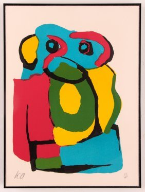 "Karel Appel Orig Lithograph ""monkey Or Chimp"""