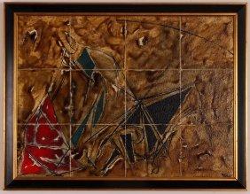 Willard Bond Sailing Composition Ceramic Wall Tile