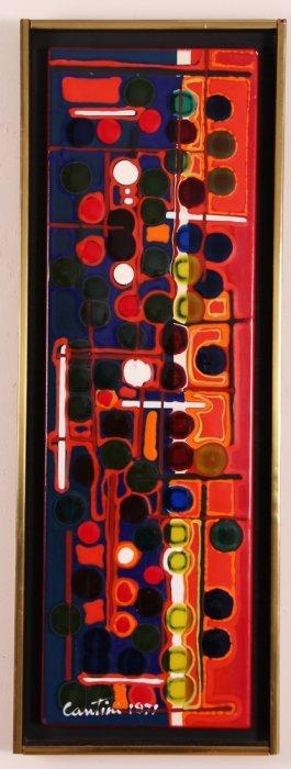 Virgil Cantini 1971 Abstract Enamel On Metal