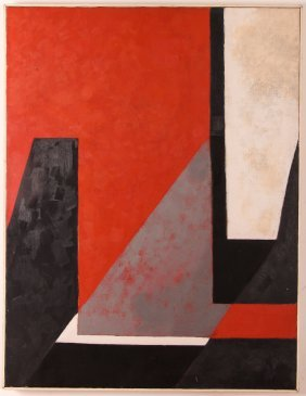"Sylvia Feldstein Ptg. ""red, Black White"""
