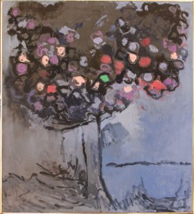 Lois Kaufman Blooms Of The Evening Oil Painting 1984
