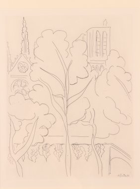 Henri Matisse 1938 Etching 'la Cite, Notre Dame''