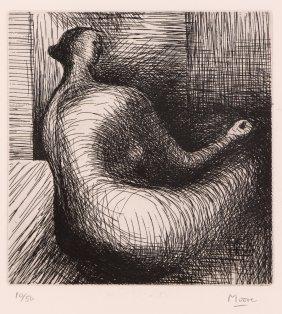 """Henry Moore 1979 Etching """"seated Figure"""""""
