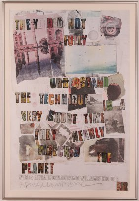 2 Robert Rauschenberg Posters, One Pencil Signed They
