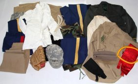 Large Lot Of Us Military Uniforms