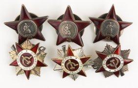 Ussr Soviet Order Badge Lot Of 6
