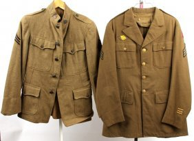 Wwii Us Army Jacket Lot Of 2