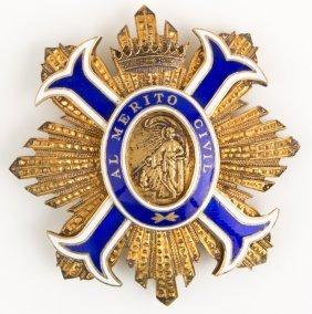 Spanish Order Of Civil Merit Badge