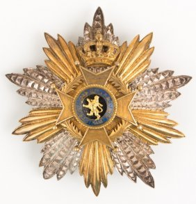 Belgium Order Of Leopold Breast Star Badge