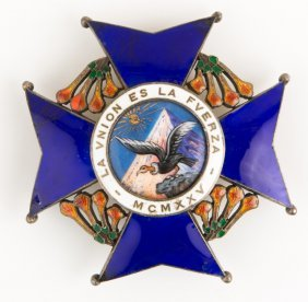 Bolivia Order Of The Condor Of The Andes Badge